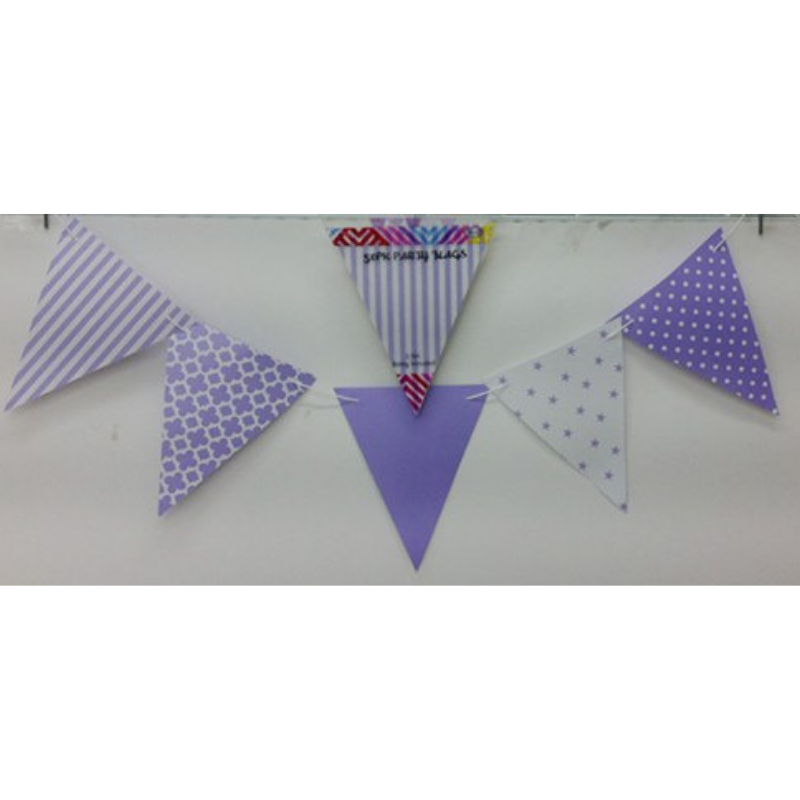 Party Flags Purple 50pk