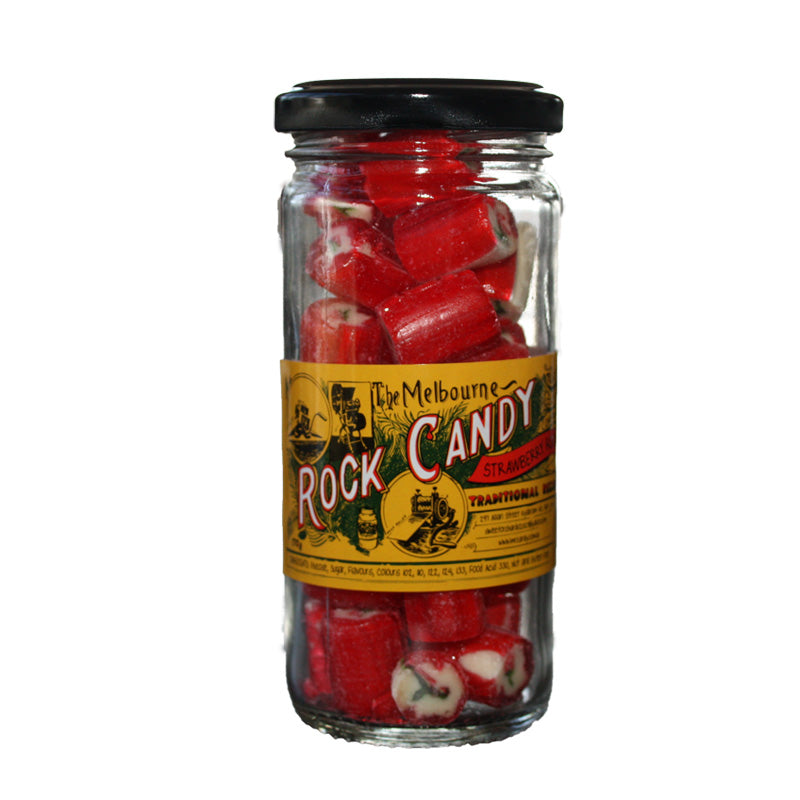 The Melbourne Rock Candy Strawberry Rock 170g