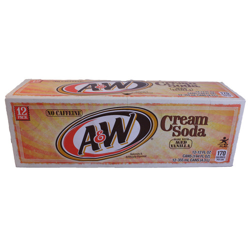 A & W Cream Soda 355ml