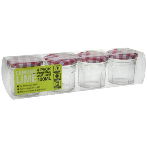 Glass Conserve Jars 4pk