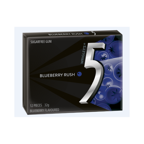Wrigley's 5 Blueberry Rush 32g