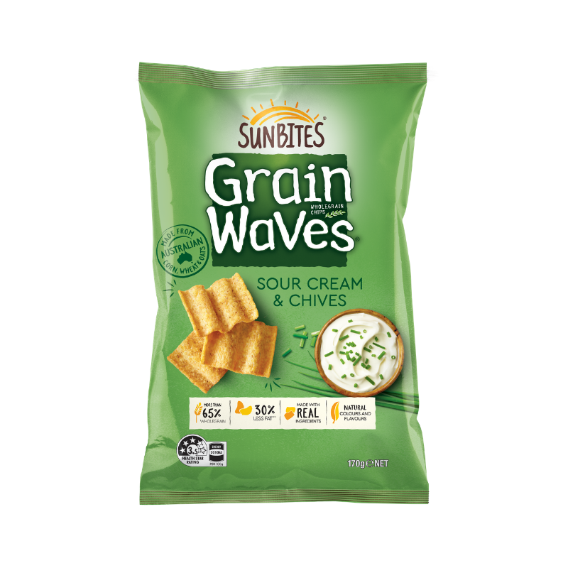 Grain Waves Sour Cream & Chives 170g