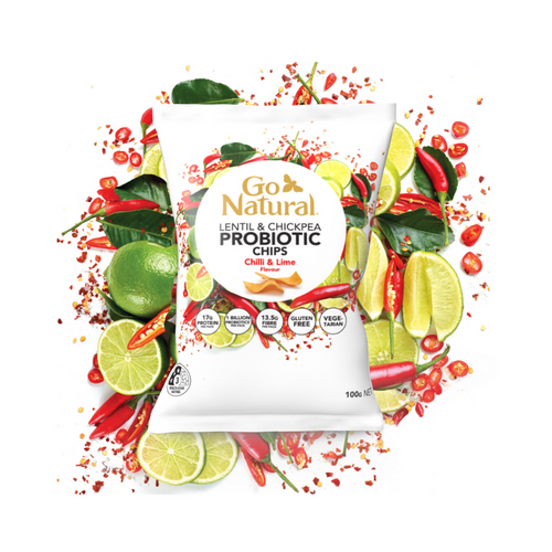 Go Natural Probiotic Chips Rosemary Chilli & Lime 100g