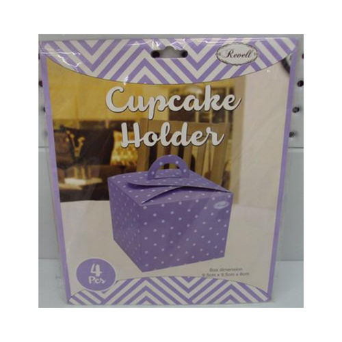 Cupcake Box Purple 4pk