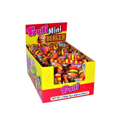 Trolli Mini Burger 9g - 60 Units