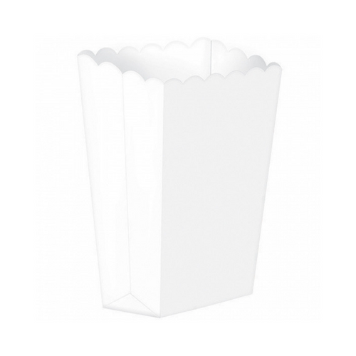 Popcorn Box Plain White 5pcs (13 x 9.5 cm)