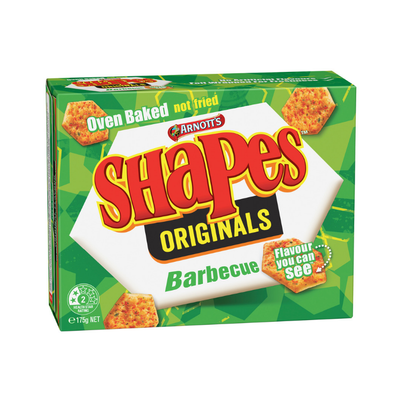 Arnott's Shapes Barbecue 175g