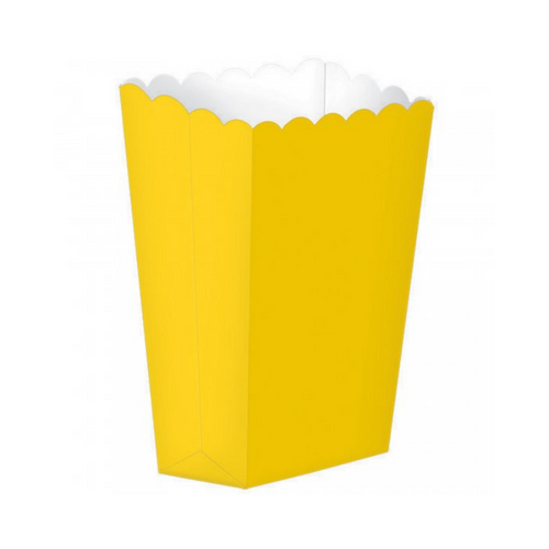 Popcorn Box Plain Yellow 5pcs (13 x 9.5 cm)