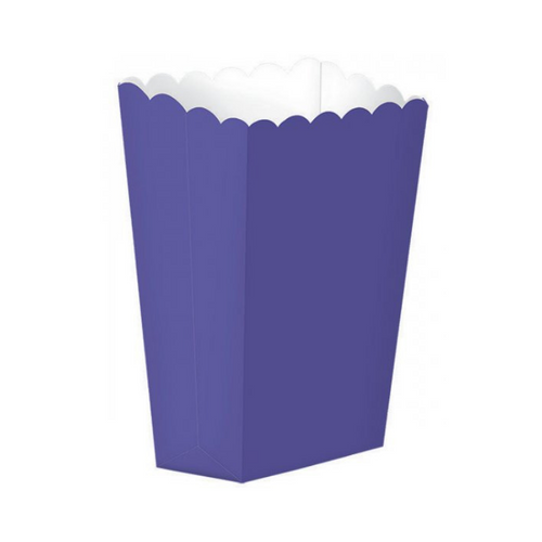 Popcorn Box Plain Purple 5pcs (13 x 9.5 cm)