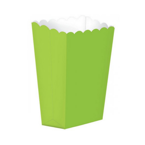 Popcorn Box Plain Green 5pcs (13 x 9.5 cm)