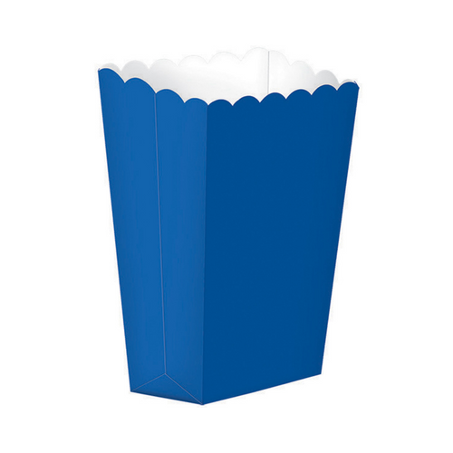 Popcorn Box Plain Royal Blue 5pcs (13 x 9.5 cm)