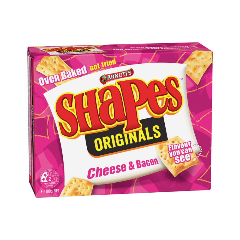 Arnott's Shapes Cheese & Bacon 180g