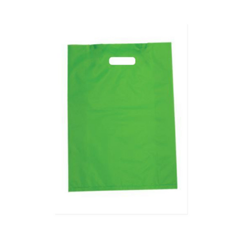 Plastic Bags Lime Green 100pcs