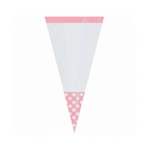 Cone Cello Bags Pink 10pcs (24.7cm)