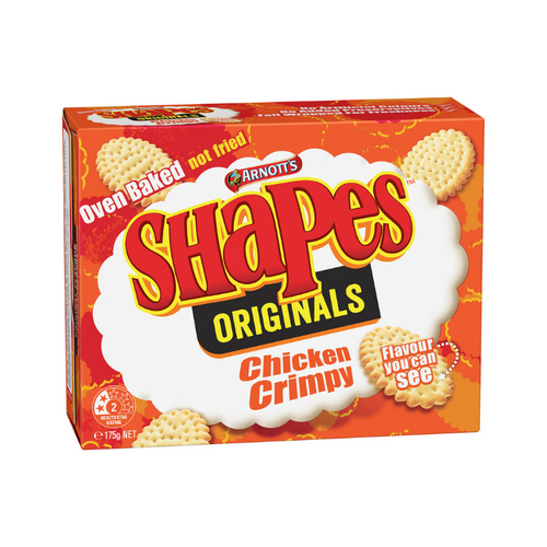 Arnott's Shapes Chicken Crimpy 175g
