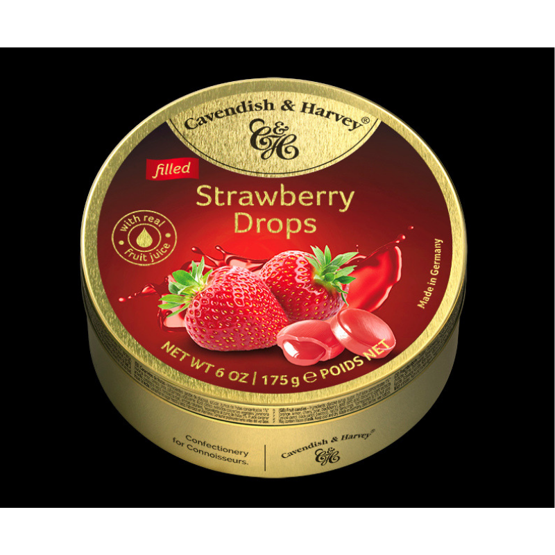 Cavendish & Harvey Strawberry Drops 175g