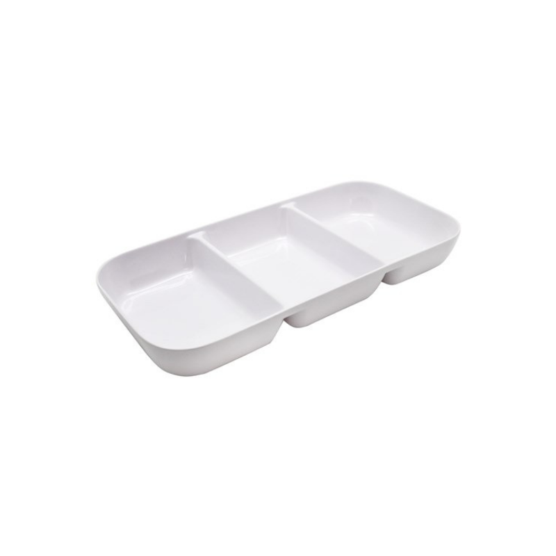 Melamine 3 Section Serving Tray 33x16x4cm(Pick Up Instore Only)
