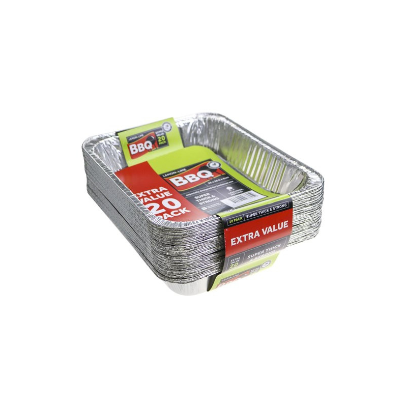 Foil Trays Value 20pk (Pick Up Instore Only)
