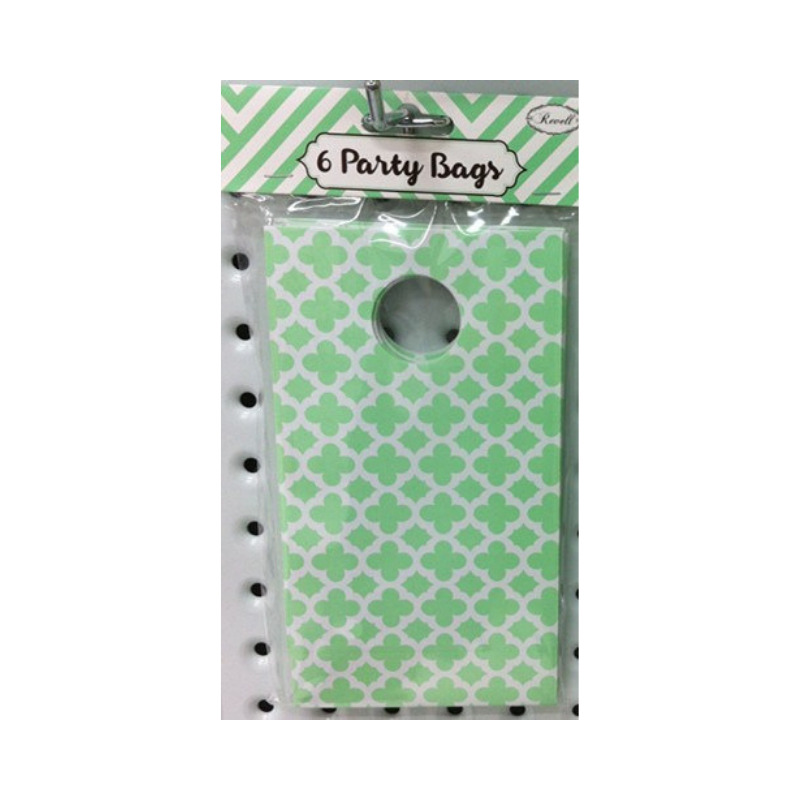 Party Bag Pattern Green 6pk