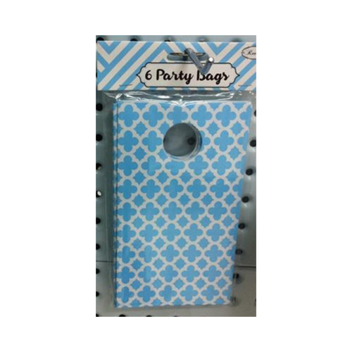 Party Bag Pattern Baby Blue 6pk