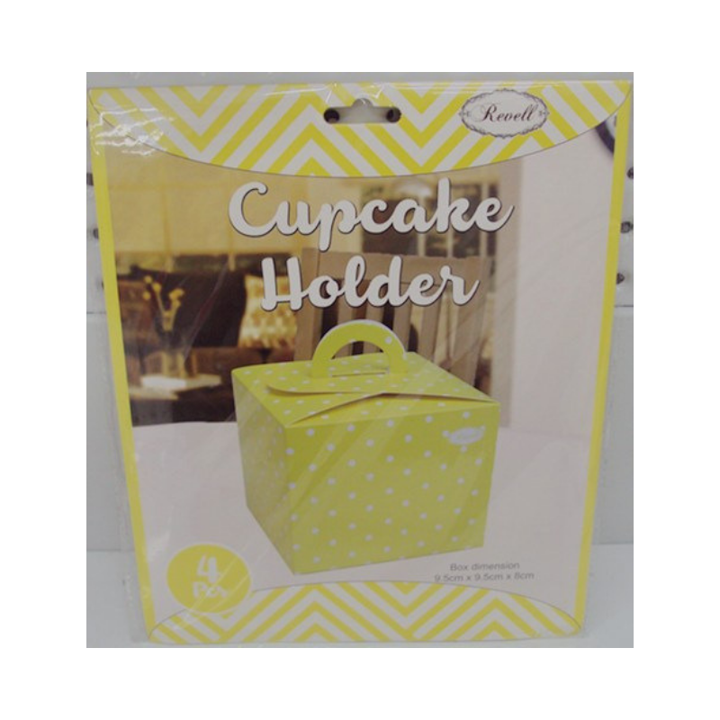 Cupcake Box Baby Yellow 4pk