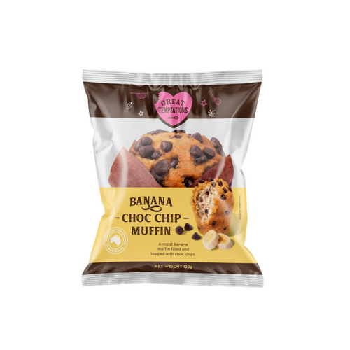 Great Temptations Banana and Choc Chip Muffin 120g