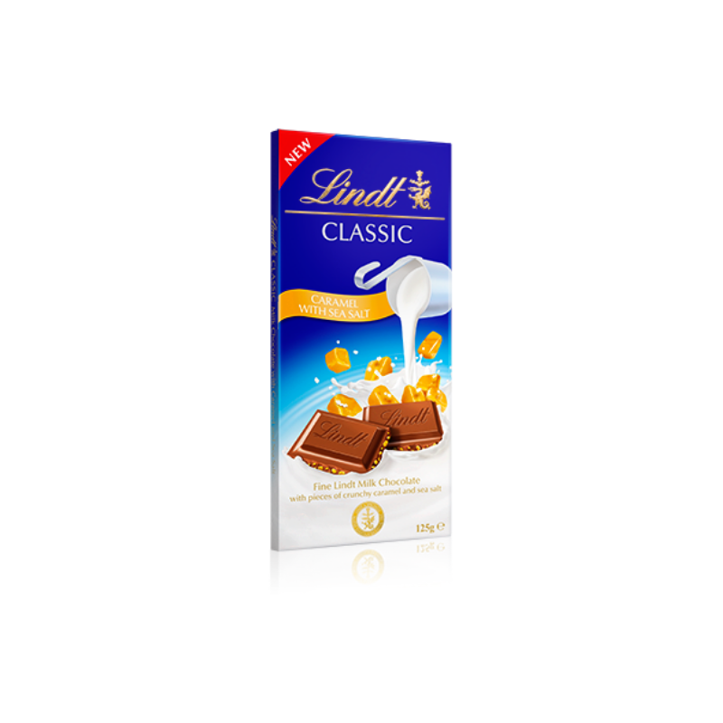 Lindt Classic Caramel with Sea Salt 125g