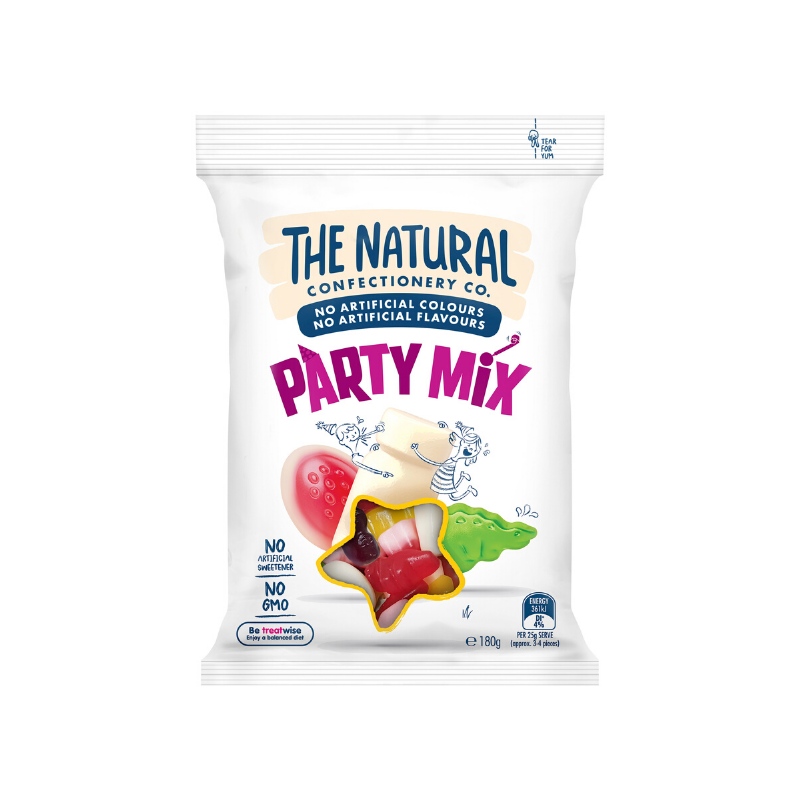 The Natural Confectionery Co. Party Mix 180g