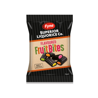 Fyna Superior Liquorice Co. Fruit Bites 250g