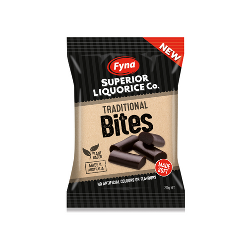 Fyna Superior Liquorice Co. Traditional Bites 250g