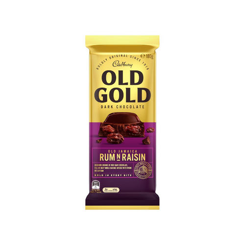 Cadbury Old Gold Old Jamaica Rum N Raisin 180g