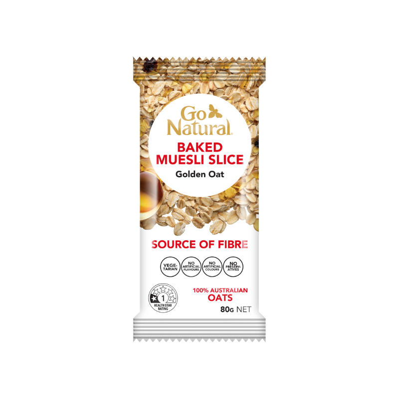 Go Natural Baked Slice Golden Oat 80g