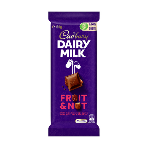 Cadbury Fruit & Nut 180g