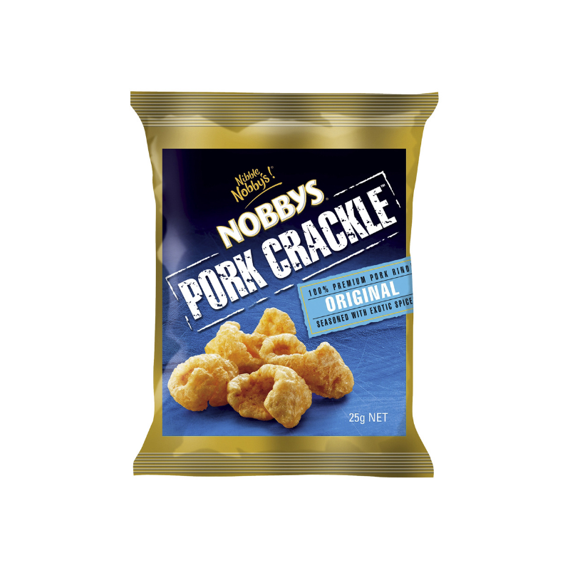 Nobbys Pork Crackle Original 25g