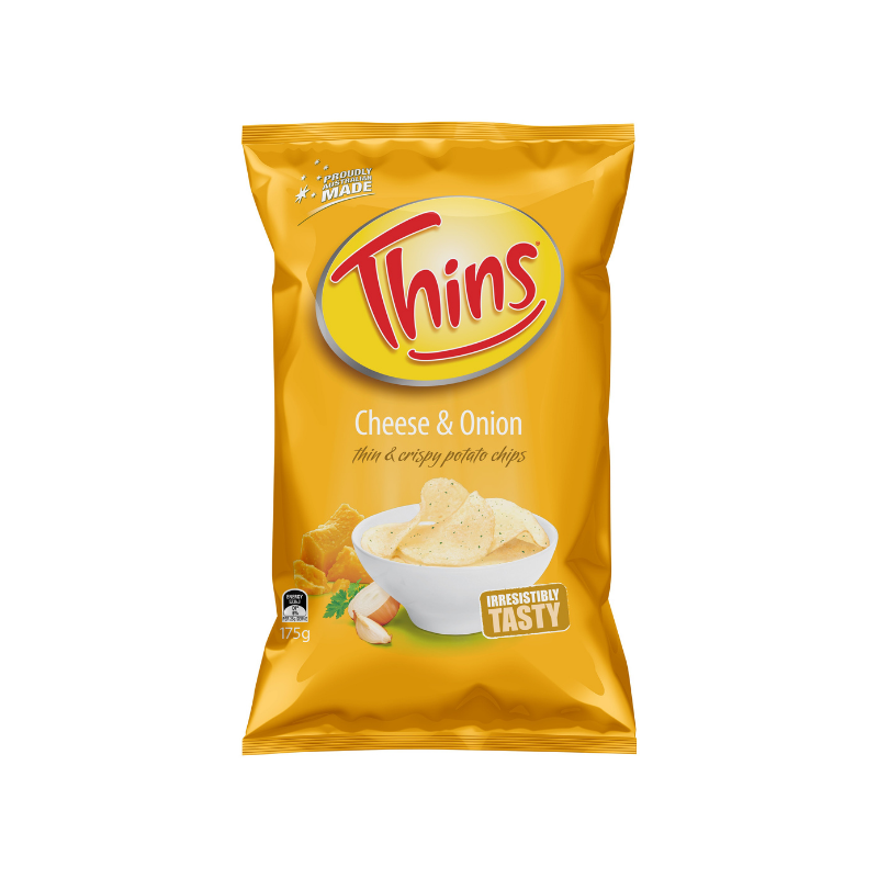 Thins Cheese & Onion 175g