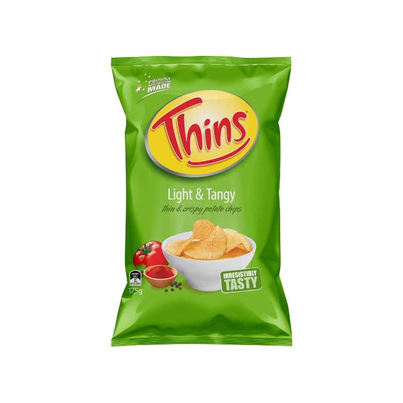 Thins Light & Tangy 175g