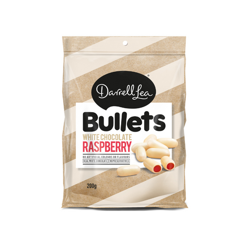 Darrell Lea Bullets White Raspberry Bullets 200g