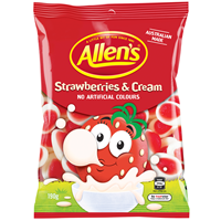 Allens Strawberries & Cream 190g