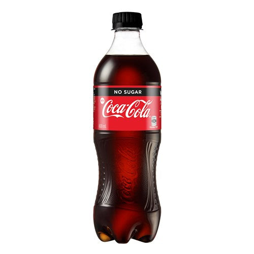 Coca-Cola Bottle No Sugar 600ml