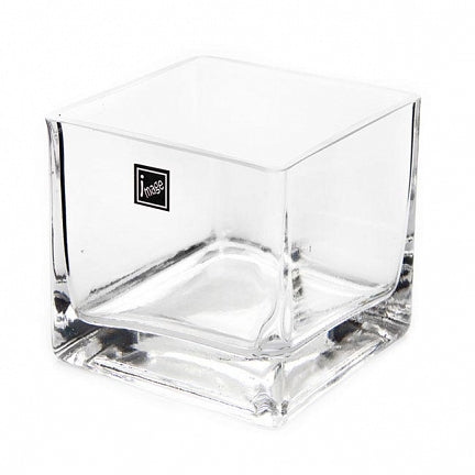 Glass Cube Vase 10x10 (Pick Up Instore Only)