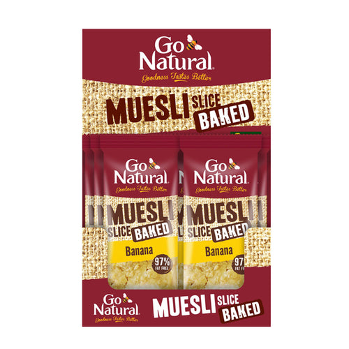 Go Natural Baked Banana Muesli Slice 90g