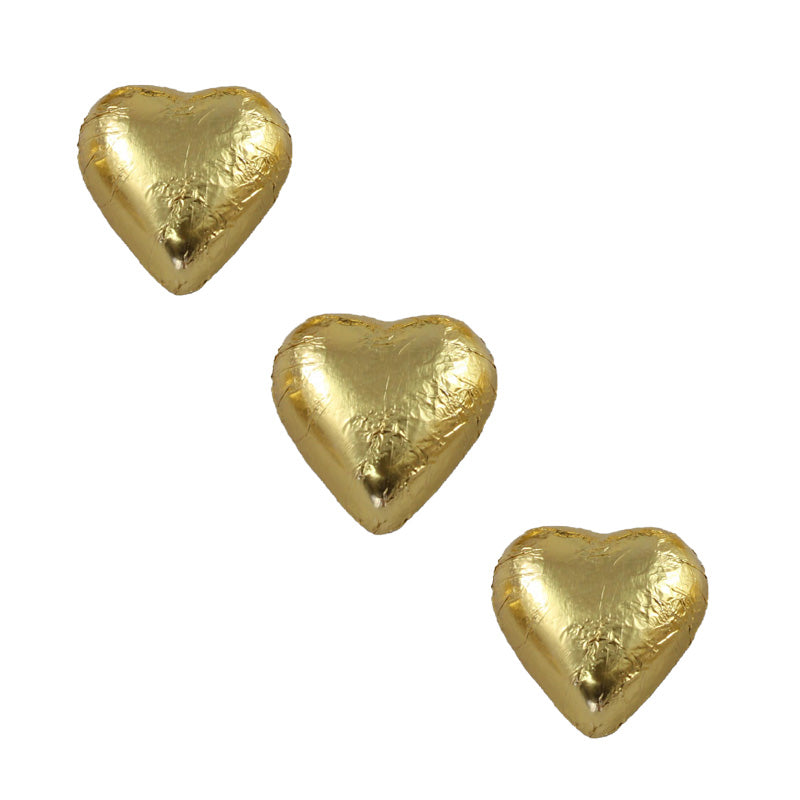 Chocolate Foil Hearts Gold