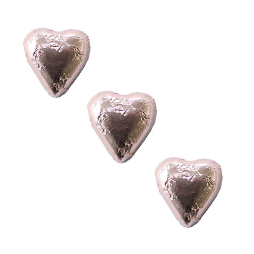 Chocolate Foil Hearts Rose Gold