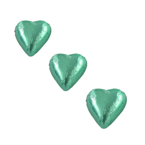 Chocolate Foil Hearts Ice Green