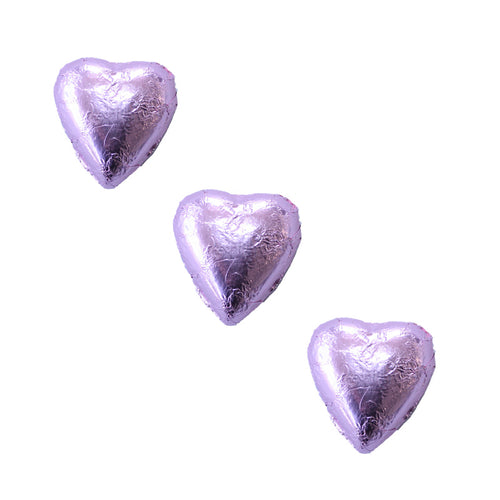 Chocolate Foil Hearts Light Pink