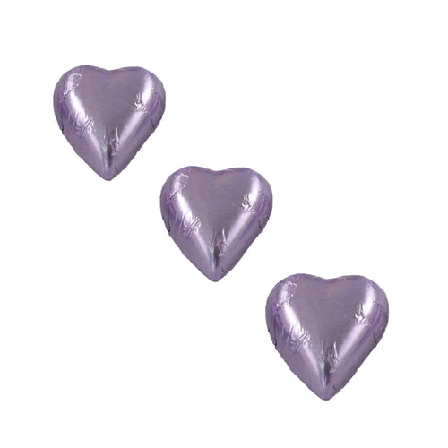 Chocolate Foil Hearts Lilac