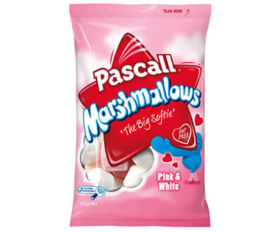 Pascall Raspberry & Vanilla Marshmallows 125g