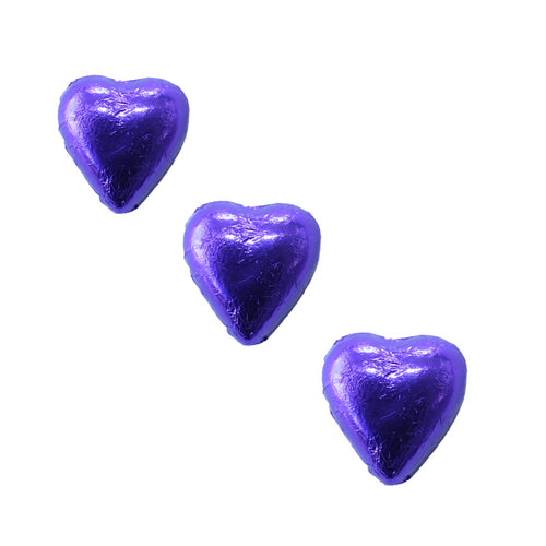 Chocolate Foil Hearts Purple