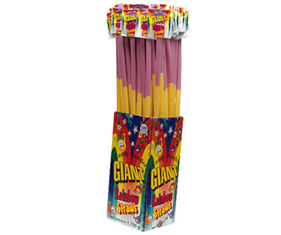 Rainbow Sherbet Straws 11g - 140 Units