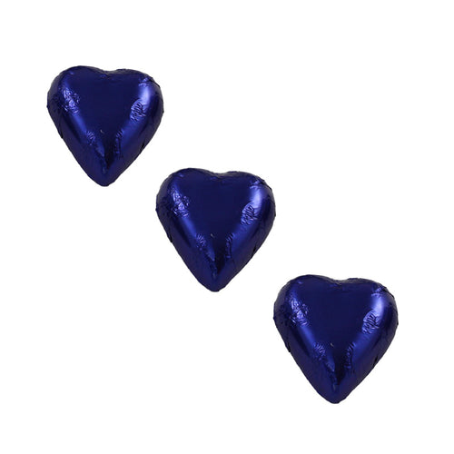 Chocolate Foil Hearts Royal Blue
